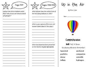 Up in the Air Trifold - Treasures 5th Grade Unit 6 Week 4