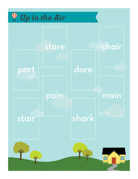 Up in the Air ar, air, are, ai Phonics Game - Words Their Way Game