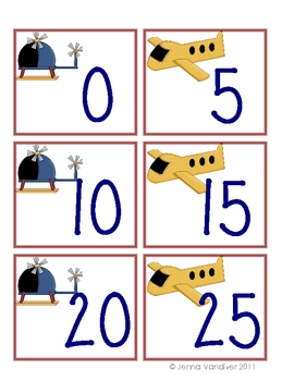 Up in the Air: counting by 5s and 10s