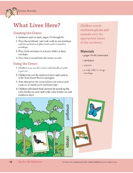 Up into the Rainforest: Center Activity