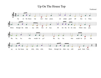 Up on the House Top for Boomwhackers & Handbells