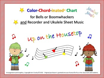 Up on the Housetop Musi-Kit for Bells and/or Boomwhackers, Recorder, Uke