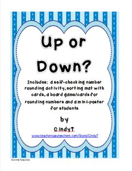Up or Down?- Activities for rounding numbers to the nearest ten