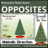 Christmas Music Game: Melodic Direction Up Down {Interactive} Decorate the Tree