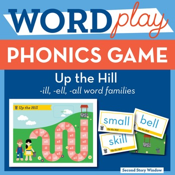 Up the Hill Mixed Short Vowel Word Families Phonics Game - Words Their Way Game