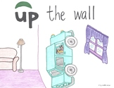 Up the Wall Cartoon--Printable Montessori Preposition/Grammar/Idiom Cards