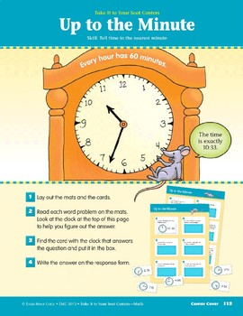 Up to the Minute (Take It to Your Seat Centers Common Core Math)