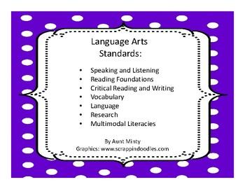 2017-2018 3rd Grade Oklahoma Language Arts Standards   Dot design