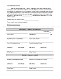 Update Emergency Contact Form for Teachers