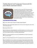 Update Speech/Language Homework for your Whole Caseload Online!  Google Tutorial