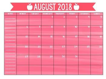 Updated 2018-2019 Calendars!