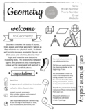 Updated! Math - Geometry Syllabus - Completely Editable No