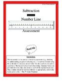 Subtraction Number Line Assessment
