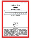 Subtraction Number Line Assessment