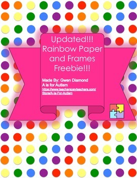 Rainbow Clipart, Pages and Borders! (Updated)