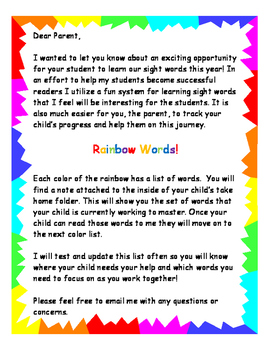 Updated Rainbow Sight Word System part 2