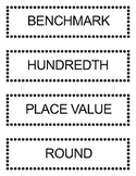 Go Math Grade 5 Vocabulary Words for Bulletin Board Unit 3
