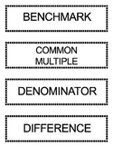 Go Math Grade 5 Vocabulary Words for Bulletin Board Unit 6