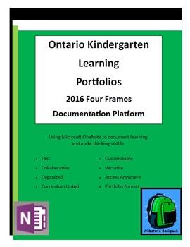 Ontario Kindergarten Four Frames Learning PortfolioTemplates