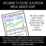 Uploading to Google Classroom Digital Anchor Chart
