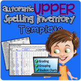 Upper Automatic Spelling Inventory Template