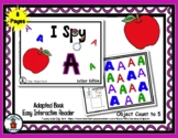 Upper Case A  - Adapted Alphabet 'I Spy' Easy Interactive