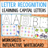 Powerpoint/Interactive Whiteboard Letter Recognition Activities + Worksheets