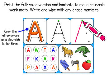 Letter Recognition Activities - Powerpoint & Interactive Whiteboard + Worksheets