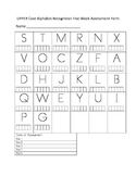 Upper Case Alphabet Recognition Weekly Assessment