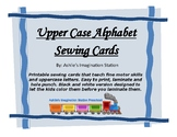 Upper Case Alphabet Sewing Cards