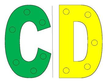 Upper Case Alphabet Sewing Cards