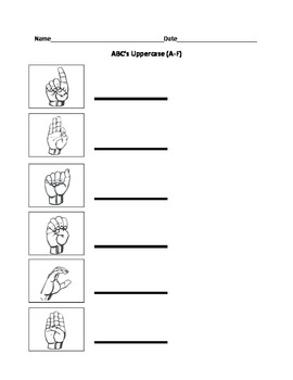 Upper Case Alphabet in Sign Language Activities