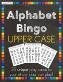 Upper Case Bingo Alphabet Playing Cards