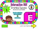 Upper Case E Set #1 - Interactive PDF - 3 Digital Activiti