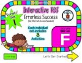 Upper Case F Set #1 - Interactive PDF  3 Digital Activitie