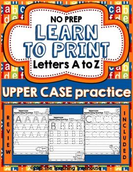 Upper Case Handwriting