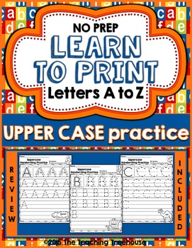 Upper Case Handwriting