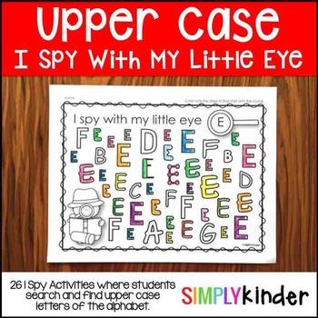 Upper Case I Spy Activities