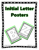 """Upper Case Initial Letter  'My name is"""" Posters ~ No Prep Printable"""