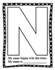 "Upper Case Initial Letter  'My name is"" Posters ~ No Prep Printable"