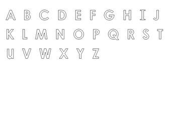 Upper Case Letter Alphabet Arc Mat
