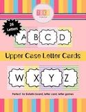 Upper Case Letter Cards-Colorful Stripes