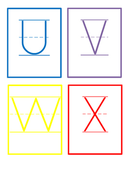 Upper Case Letter Cards _ Colorful FREEBIE