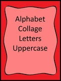 Upper Case Letter Collage worksheets.  Preschool and Dayca
