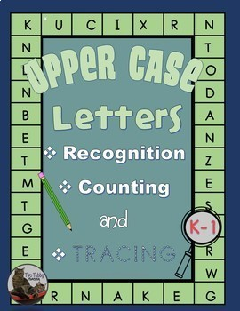 Upper Case Letter Recognition, Counting and Tracing