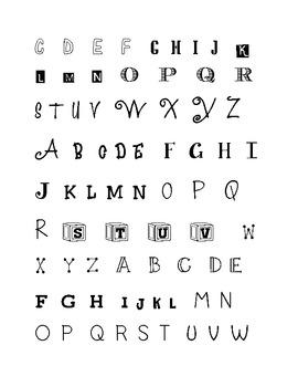 Upper Case Letter Recognition Using Different Fonts