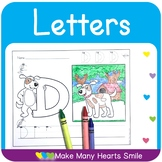 Upper Case Letter Trace and Color