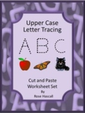 Alphabet Upper Case Letter Tracing Activities Special Education Kindergarten