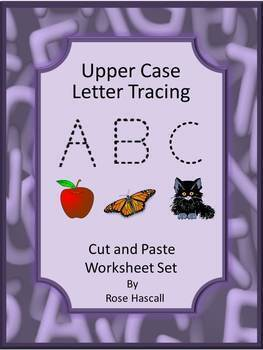 Alphabet Letters and Sounds, Tracing Letters A-Z, Cut and Paste Worksheets