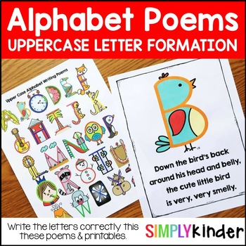 Alphabet Poems - Upper Case Letter Writing Poems